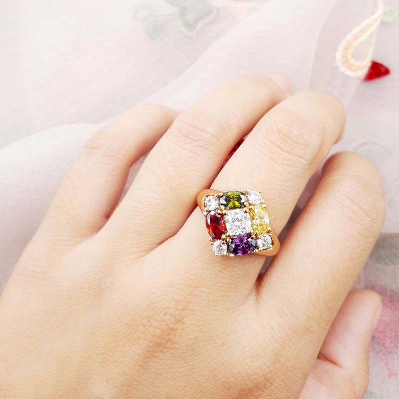XUPING CINCIN GOLD SQUARE COLOURFULL